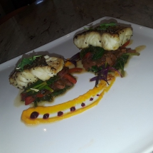 Red Snapper on saute vegetables